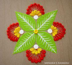 Easy Rangoli Designs Videos, Simple Rangoli Border Designs, Easy Rangoli Designs Diwali, Rangoli Designs Latest, Rangoli Designs Flower, Free Hand Rangoli Design, Small Rangoli Design, Rangoli Designs With Dots, Flower Rangoli