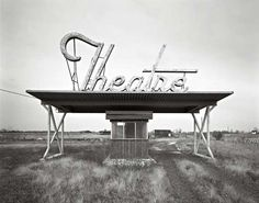 """Sarah Pinyan posted """"Abandoned Drive-In Theatre"""" -- [Parsons, Kansas]~[Photograph by Photographer Frank Armstrong - Fun times. to her -Papercraft- postboard via the Juxtapost bookmarklet. Old Buildings, Abandoned Buildings, Abandoned Places, Natalie Wood, Fosse Commune, Drive In Movie Theater, Vintage Neon Signs, Old Signs, Kansas"""