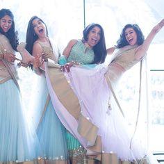 Pastel lehenga inspiration for the bridesmaids  Photo Courtesy - @flgroestudios (Mumbai)  #squadgoals #girlgang #bridesmaids #indianbride #lehenga #bridesmaiddress #girlsquad #teambride #friendsforever #lengha #weddingfun #weddingphotography