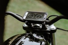 The cherry on the top is the new mobile dash display. It uses the Torque app available for Android phones, and reads a Bluetooth sender unit plugged into the ECU. Information such as speed, revs, and temperature is transmitted to OEM's own custom dash display, complete with Smiths-style 'chrono clocks.'