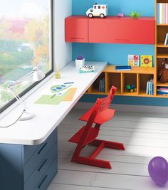ways to show off your wall art than simply hanging a picture on a blank wall. Personalise plain walls with these fun and fabulous ideas for children's rooms. Boy Room, Kids Room, Small Room Desk, Girls Bedroom, Bedroom Decor, Study Table Designs, Kids Play Spaces, Kids Furniture, Decoration