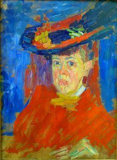 Alexej von Jawlensky - 1906 Portrait Marianne von Werefkin Wiesbaden Museum