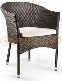 DL ROUND - Exterierové kreslo s hliníkovou konštrukciou a výpletom z umelého. Outdoor Chairs, Outdoor Furniture, Outdoor Decor, Lounges, Armchair, Home Decor, Sofa Chair, Single Sofa, Decoration Home