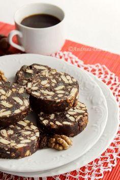 Salame de chocolate, one of my favorite portuguese desserts