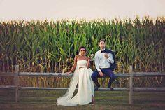 Lucifer Actress Lesley-Ann Brandt's Vermont Wedding, Bride and Groom Portrait