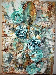 """Hello everyone! Today I am sharing this """"found in the ocean"""" inspired canvas board I created using Art Anthology products. The ocean is by far one of my favorite places to visit. Combin…"""