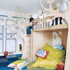 Surely a quick weekend job, mdf, jigsaw and off you go. Give your kids a designer bed for a steal!