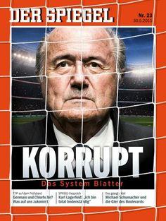 A la une du #Spiegel, Allemagne : pour #Blatter, la fin est proche.