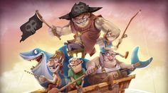 pirates, boat, fishing - http://www.wallpapers4u.org/pirates-boat-fishing/