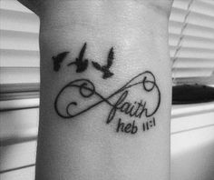 28 hebrews 11 1 and birds on wrist http://hative.com/cool-bible-verse-tattoo-design-ideas-with-meanings/