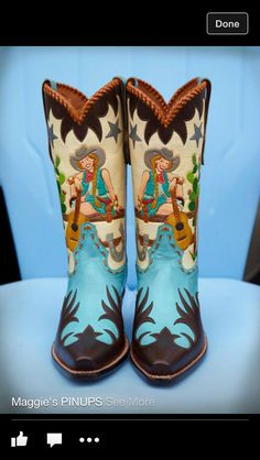 Cowgirl Boots - great vintage style - oh I want these