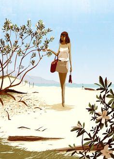 Matthieu Forichon artist..beach girl