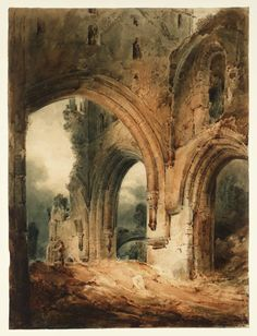 john sel cotman paintings   John Sell Cotman, 'Llanthony Abbey' 1801