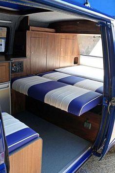 Interior Design Ideas for Camper Van Volkswagen Bus Interior, Vw T1 Camper, Campervan Interior, Campers, Vw Minibus, Vw T3 Syncro, T3 Vw, Vw T3 Tuning, Kombi Trailer