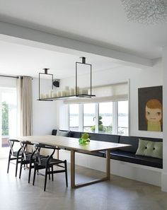 Trendy Built In Bench Seating Living Room Kitchen Banquette Ideas Banquette Seating In Kitchen, Kitchen Table Bench, Dining Room Bench Seating, Banquet Seating, Corner Seating, Booth Seating, Built In Seating, Dining Room Design, Dining Tables