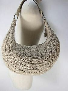 The Sak Large Crescent Hobo Shoulder Bag Purse Crochet Tote, Crochet Handbags, Crochet Purses, Love Crochet, Diy Crochet, Handmade Purses, Handmade Handbags, Cute Handbags, Knitted Bags