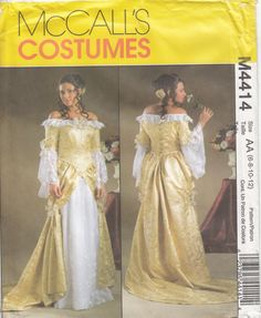 McCalls 4414 Renaissance Baroque Gown Boned Bodice by CedarSewing