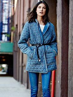 Chambray Quilted Jacket