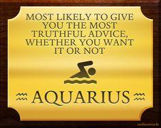 Aquarius gives truthful advice Aquarius Sign, Astrology Aquarius, Aquarius Traits, Aquarius Quotes, Aquarius Woman, Age Of Aquarius, Astrology Signs, Pisces Girl, Gemini
