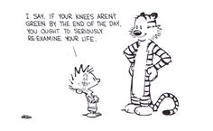 Hang on to Yourself    illustration byBill Watterson:: scanned from Calvin and Hobbes: The Days are Just Packed :: Scholastic Inc. :: 1993