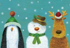 Penguin Snowman Reindeer Charity Christmas Cards