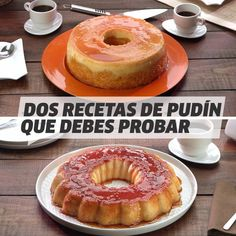 Two pudding recipes you should try - Vix Yum Español Videos - Doughnut Recipes Pastry And Bakery, Flan, Pudding Recipes, Food Humor, Diy Food, Food Videos, Deserts, Doughnut, Food And Drink