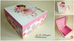 Pudełko Decoupage dla dziewczynki