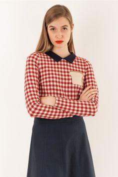 Camicia con colletto e taschino toast Abbigliamento Donna Made in Italy