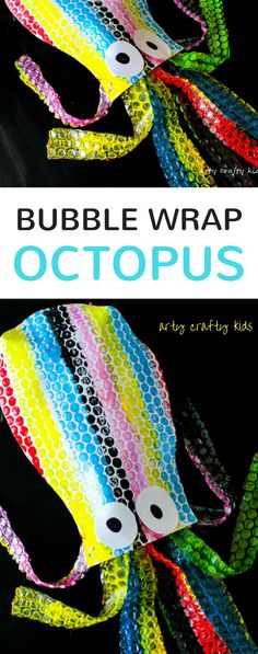 Puffy Bubble Wrap Octopus is part of children Crafts Under The Sea - Make a big gorgeous Puffy Bubble Wrap Octopus for some under the sea Summer crafting with the kids! A super fun kids craft that combines art,craft and play! Crafts To Do When Your Bored, Easy Crafts For Kids, Summer Crafts, Projects For Kids, Diy For Kids, Craft Projects, Craft Ideas, Under The Sea Crafts, Under The Sea Theme