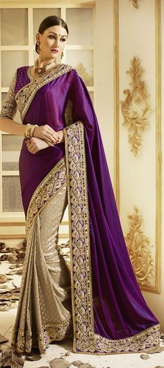New Designer Bollywood Saree Wedding Party Traditional Pakistani Sari. Indian Saree is perfect apparel for party like occasion so find your best Sari at online. Designer Sarees Collection, Latest Designer Sarees, Saree Collection, Hindus, Saris, Indian Dresses, Indian Outfits, Magenta, Costumes
