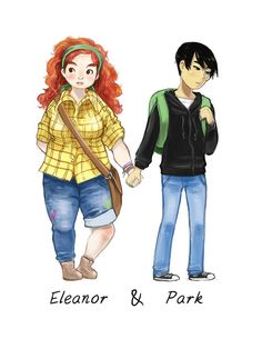 My colored version of the Eleanor & Park doodle! I think there are still more things to fix (especially anatomy wise), but I'm pu...