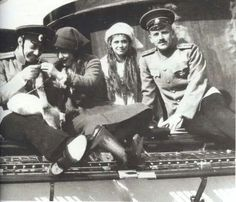 Grand Duchesses Maria and Anastasia Nikolaevna Romanova of Russia and officers.A♥W