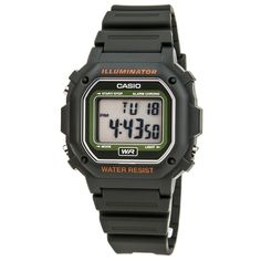 Casio F108WH-3A Men's Casual Classic Green Resin Digital Dial Alarm Chrono Watch