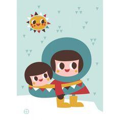 Poster eschimese di Bora Illustrations