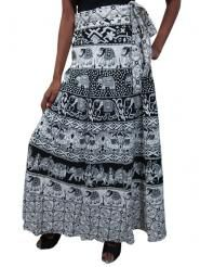 boho chic: Printed Cotton Wrap Skirts