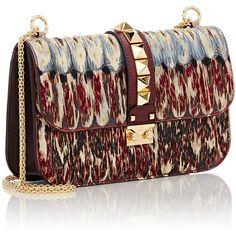 Valentino Rockstud Medium Shoulder Bag ($4,075) ❤ liked on Polyvore featuring bags, handbags, shoulder bags, genuine leather purse, oversized shoulder bag, genuine leather shoulder bag, studded purse and studded handbags