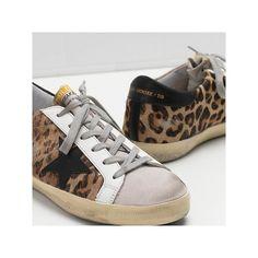 df9083657ffe 2017 Women GGDB Golden Goose Superstar Leopard Sneakers