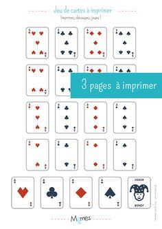 Mini jeu de 54 cartes à imprimer