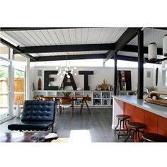 Kitchen eat sign
