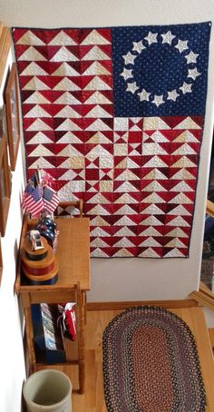 Humble Quilts: It's July- Hip Hip Hooray!
