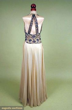 Medeleine Vionnet Evening Gown, Late 1930's. Someday when I get really talented at sewing I'll copy this dress...someday...