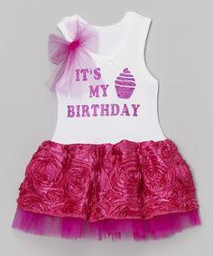 Loving this Hot Pink 'My Birthday' Tutu Dress - Infant, Toddler & Girls on #zulily! #zulilyfinds