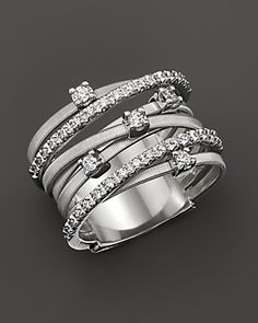 """Marco Bicego """"Goa"""" 18K White Gold and Diamond Ring, 0.4 ct. 