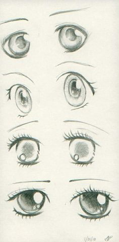 Anime eyes - Love the bottom ones