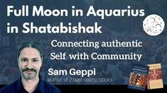 Full Moon in Aquarius - - Shatabishak Nakshatra Moon In Aquarius, Aquarius Men, Authentic Self, Full Moon, Astrology, Author, Books, Harvest Moon, Libros