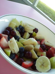 Heathly breakfast on the porch <3 Beautiful day<3