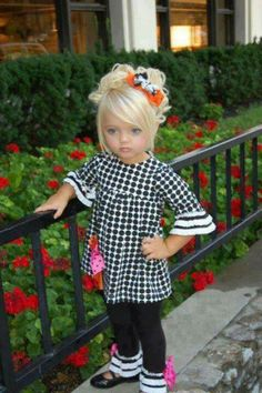 Kid fashion..lil girl doesnt need makeup!