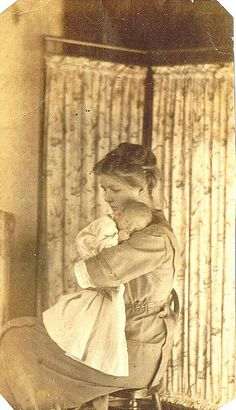 double love, mom and baby and vintage photos