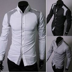 Aliexpress.com : Buy Men White Shirt Men Stylish Shirt Fashion Casual Designer Mens Shirts #MS184 from Reliable mens shirts suppliers on MarcStyle