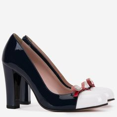 Pantofi din piele naturala bleumarin cu alb Exquisite Peep Toe, Shoes, Fashion, Moda, Zapatos, Shoes Outlet, Fashion Styles, Fasion, Footwear
